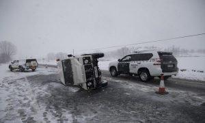 Como evitar los accidentes de trafico en la nieve o el hielo