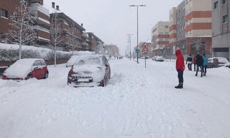 Filomena y la nieve en Madrid España aumentan los accidentes de tráfico