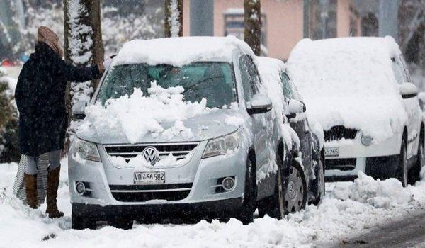 accidentes por nieve en Madrid